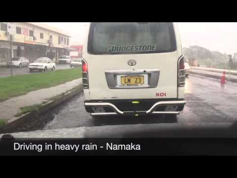 Driving in Heavy Rain - Namaka - Fiji
