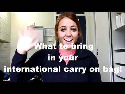 What to pack in your international flight carry on bag!