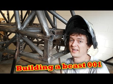 Offender Monster Truck Build ep 001 Paint and a bit of TIG Welding
