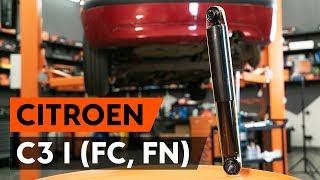Kuinka vaihtaa takaiskunvaimentimet CITROEN C3 1 (FC, FN) -merkkiseen autoon [AUTODOC -OHJEVIDEO]