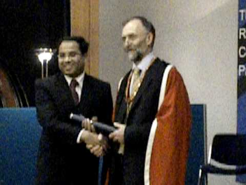 Debdeep at convocation taking the medal FRCPath