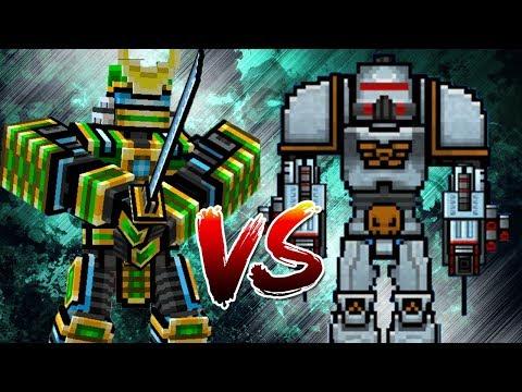 Pixel Gun 3D - Robot Samurai VS Battle Mech
