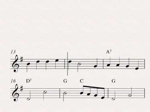 Go, Tell It On The Mountain - Free easy Christmas soprano recorder sheet music