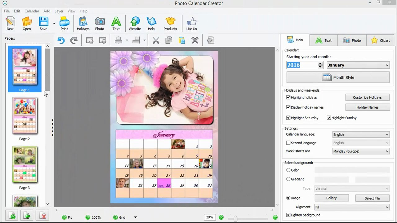 how to make a birthday calendar with pictures youtube