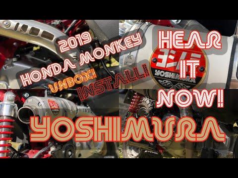 2019 Honda Monkey Yoshimura Exhaust Unbox Install Sound Test