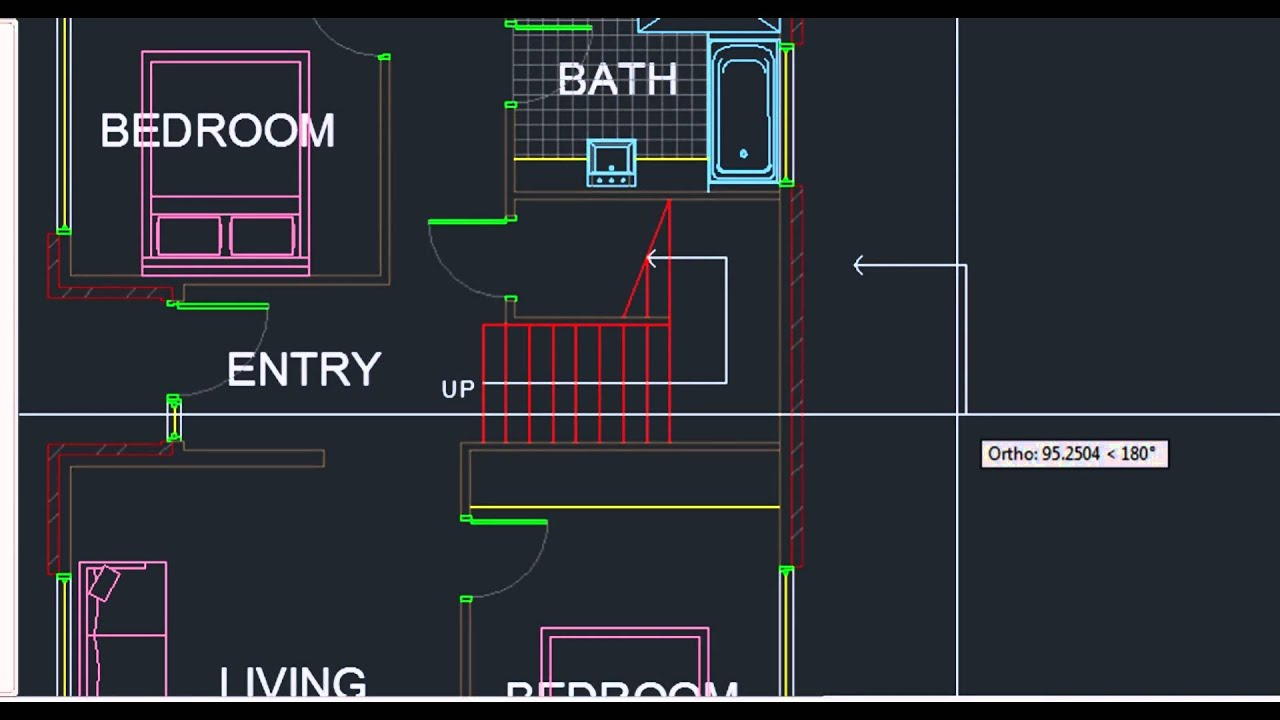 AutoCAD Training Chapter05 Exercise HD   Adding Text U0026 Dimensions To Floor  Plan