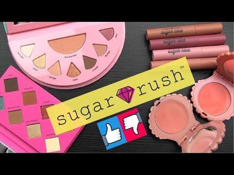 Tarte SUGAR RUSH Swatches & Brand Review