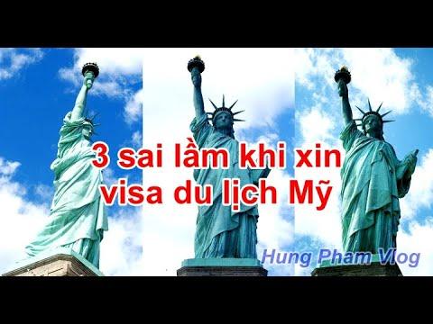 Vlog 1| 3 sai lầm khi xin visa du lịch Mỹ