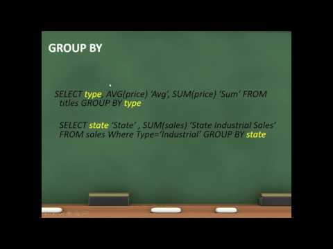 ANSI SQL - Grouping Data
