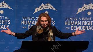 Asli Erdogan at Geneva Summit 2018
