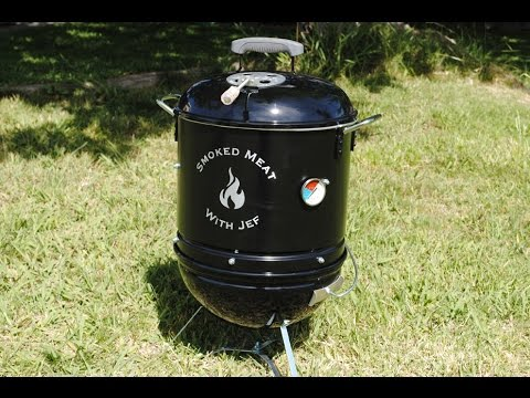 how to build your own mini smoker weber smokey mountain youtube. Black Bedroom Furniture Sets. Home Design Ideas