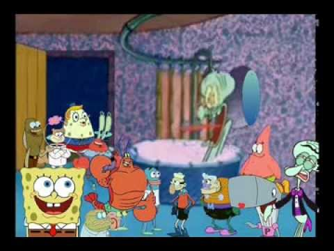 Everyone Drops By Squidwards House Youtube