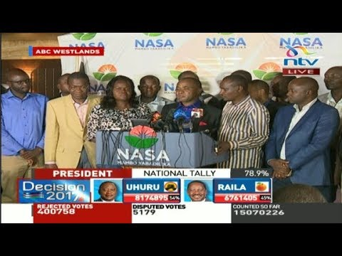 Nasa contests IEBC results, says election process was flawed