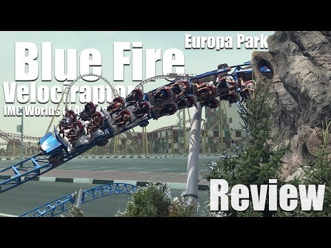 [Review] Blue Fire / Velociraptor | Europa Park / IMG Worlds of Adventure | Mack Launch Coaster