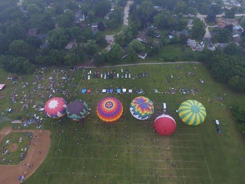 COLOR ALOFT BALLOON FESTIVAL -  Drone Footage - Grayslake, IL Balloon Fest