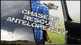 Storm Chasers get caught in wind driven hail, shelter Antelope Calf