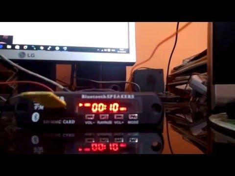 Modulo Leitor Bluetooth Mp3 FM Para Amplificador