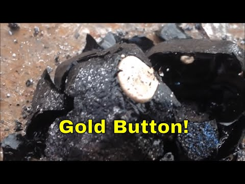 Rocks to gold part 3: Smelting the concentrates to a gold button