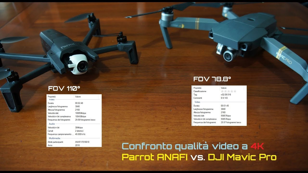 78/5000 Parrot ANAFI 4K against Mavic Pro 4K, short video quality  comparison  Who win?