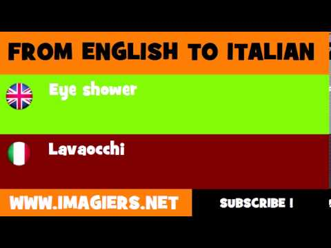How to say Eye shower in Italian
