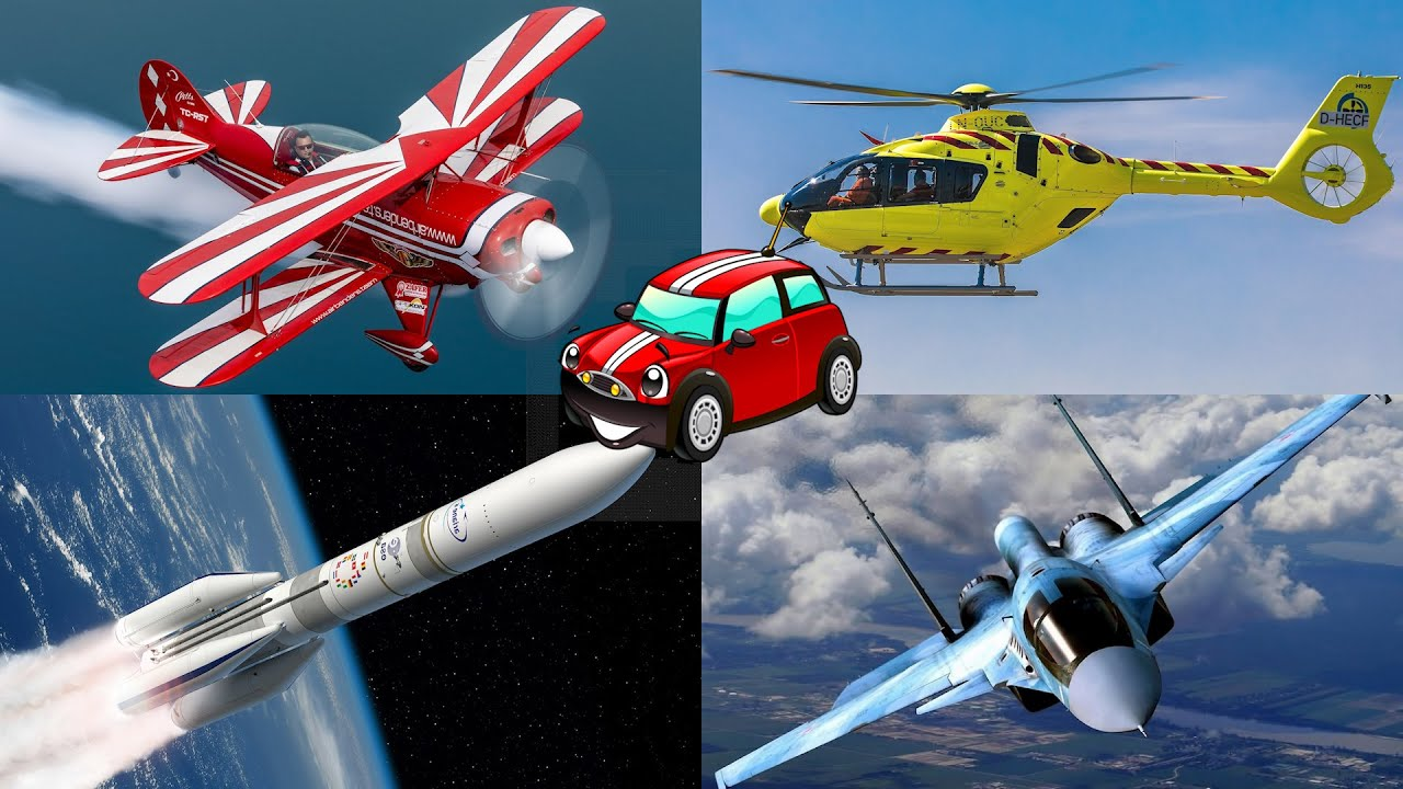 Learn airplanes and air vehicles for kids