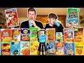 BROTHERS TRY THE CRAZIEST CEREALS IN THE WORLD & BLEND THEM