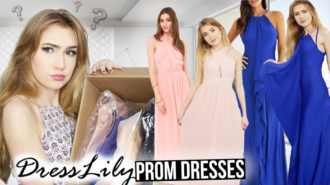 b64b02911b8 TRYING ON DRESSLILY PROM DRESSES!!  Success   Fails  - YouTube