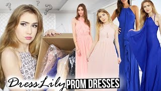 TRYING ON DRESSLILY PROM DRESSES!! *Success & Fails*
