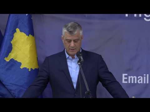 Hashim Thaçi pengohet gjatë fjalimit të tij në UBT  me thirjet PRONTO