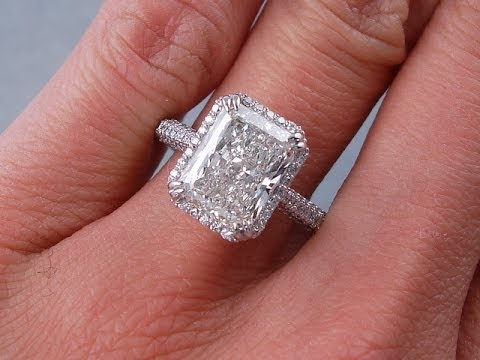 3 50 Ctw Radiant Cut H Si3 I1 Diamond Engagement Ring