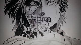 Speed Drawing Eren Jaeger - Shingeki no Kyojin