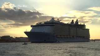 Worlds Largest Cruise Ship Creates Mini Tsunami