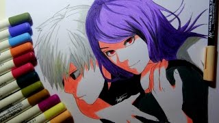 Download Video Drawing Kaneki and Rize from tokyo ghoul MP3 3GP MP4