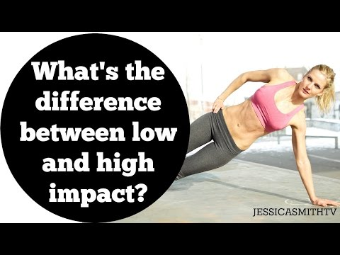 What's the difference between low and high impact exercise, workouts?
