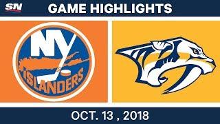 NHL Highlights | Islanders vs. Predators - Oct. 13, 2018
