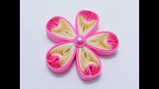 My version of the Shell Shape quilling flower - Tutorial