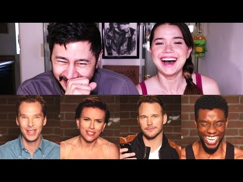 MEAN TWEETS - AVENGERS EDITION | Reaction!
