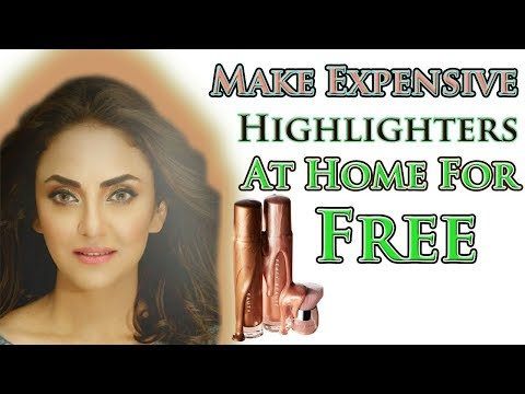 Highlighter & Body Glitter Quick MakeUp Tutorial|How To Make Highlighters At Home For Free Drugstore