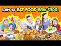 Last To EAT Food WINS $300! Last To LEAVE With Their FOOD WINS CASH!