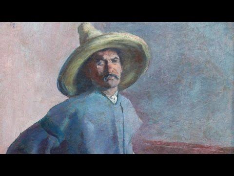 "Top Finds: 1904 Diego Rivera ""El Albañil"" Oil Painting"