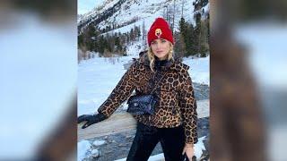 Chiara Ferragni disfruta de la nieve de Suiza