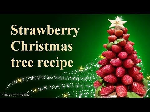 Strawberry Christmas tree step by step tutorial recipe