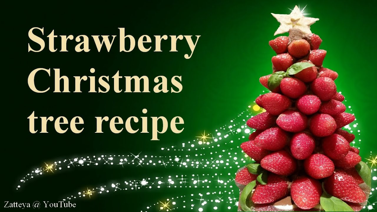 Strawberry christmas ornaments - Strawberry Christmas Tree Step By Step Tutorial Recipe