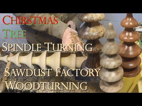 How to Turn Christmas Trees –  Sawdust Factory Woodturning