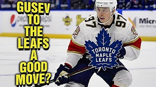 The Toronto Maple Leafs S GN NG Nikita Gusev To A PTO A Good Move