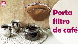 Porta filtro de papel para café com molde grátis