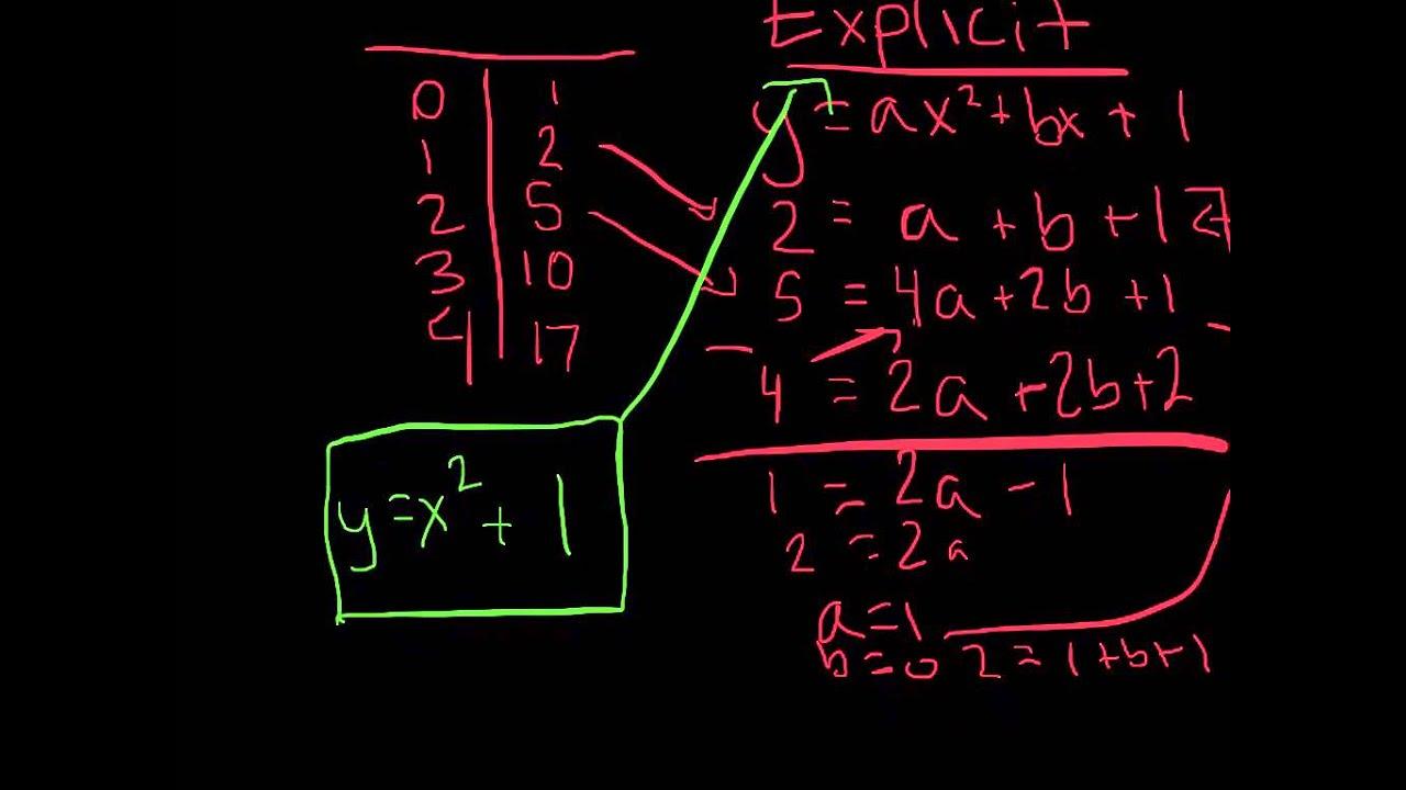 quadratic explicit and recursive youtube