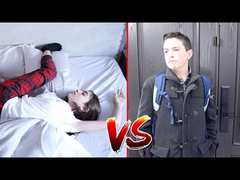 MORNING ROUTINE!! - Sister vs Brother