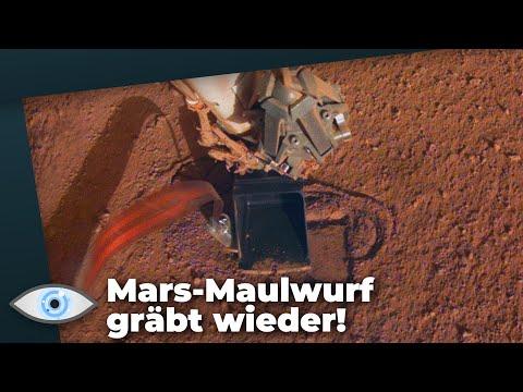 Rettungsaktion für Insight Bohrer geglückt: Der Mars-Maulwurf gräbt wieder!