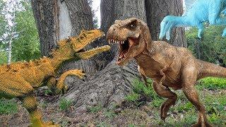 ДИНОЗАВРЫ. Заговор СПИНОЗАВРА и ЗАУРОФОГАНАКСА против ТИРАННОЗАВРА. Динозавры для детей